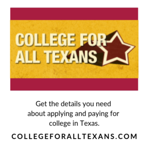 College For All Texans, logo and message